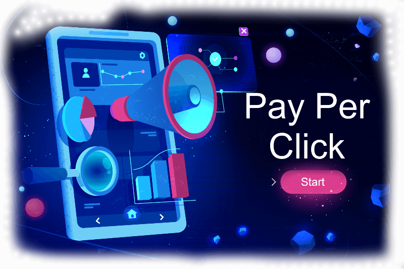Pay Per Click Advertising on a phone